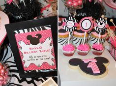 Minnie Mouse Birthday Party Party Ideas ... Dessert Table Idea
