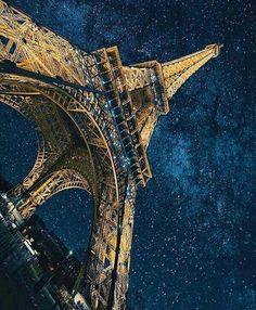 Eiffel, Paris, France Photo by Tour Eiffel, Paris Eiffel Tower, France Photos, Paris Photos, Best Summer Holiday Destinations, Honeymoon Destinations, Nature Adventure, Evening Sky, I Love Paris