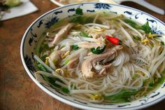 Easy and Quick Vietnamese Chicken Noodle Soup Recipe (Pho Ga). I made this last night and it was delicious! I will definitely make this again.