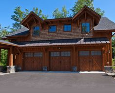 Timber Frame Home U0026 Boat Shelter   Rustic   Garage And Shed   New York    New Energy Works Timberframers | Rustic IS Beautiful | Pinterest