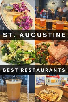 If you are looking for a place to eat, check out this guide for the best St. Augustine restaurants. There are 30 suggestions for any cuisine or budget! Florida Food, Florida Vacation, Florida Travel, Vacation Spots, West Florida, Naples Florida, Vacation Places, Orlando Florida, Vacation Destinations