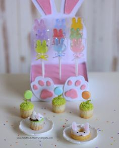 "136 Likes, 3 Comments - Alma (@almadejonge) on Instagram: ""Bunny overload  #easterbunny #easter #lollipops #miniature #dollhouse #dollhouseminiatures…"""