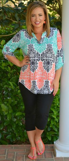 Perfectly Priscilla Boutique - Summertime Glow Top, $40.00 (http://www.perfectlypriscilla.com/summertime-glow-top/)