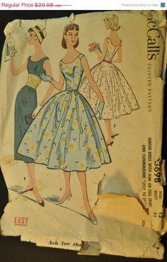 Junior Dress with Slim or Full Skirt - vintage pattern bridesmaid dress inspirations