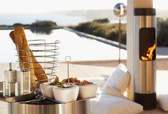 Basket, Dip bowl set on tray, 5 pc, Oil & vinegar set, Salt & Pepper Set, Set of 2 olive spoons
