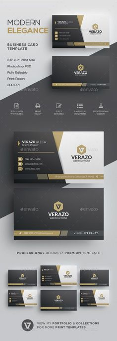 30 free modern business card templates ads pinterest business elegant business card template by verazo need more high quality business card view my business card templates collection or save money buy business card wajeb Gallery