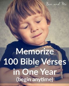 Memorizing 100 Bible verses in one year could not be easier. Grab your free… Family Bible Study, Bible For Kids, I Look To You, Memory Verse, Christian Parenting, Spiritual Growth, Spiritual Life, Bible Lessons, Christian Life