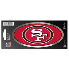 San Francisco 49ers 3x7 Chrome Decal: San Francisco 49ers 3x7 Chrome Decal Celebrate your favourite team with this San Francisco 49ers 3x7…