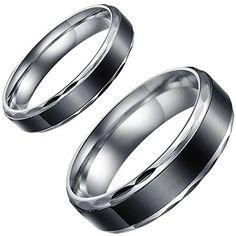 Aroncent 1 Paar Herren Damen Edelstahl Ringe, Schwarz Ret... https://www.amazon.de/dp/B01EZI1SE4/ref=cm_sw_r_pi_dp_Xcpvxb3TX0K6Z