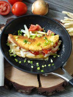 Pyry na Gaz: Omlet ze szparagami i pomidorami