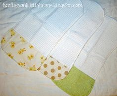I liked that these burp clothes use a hand towel - better to absorb more spit up!