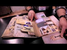 Tim Holtz - Idea ology Collection Folios - YouTube. Great  base for an interactive book. Lots of jumping-off points!