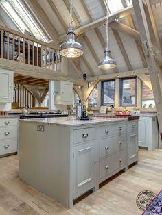 Kitchen Island with Structural Post | Blog Post