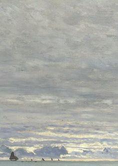 Claude Monet - La Pointe de la Hève, Sainte-Adresse (détail), 1864, huile sur toile