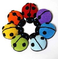 crocheted lady bugs
