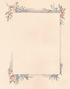 Vintage Rectangular Floral Frame ~ katinthecupboard, via Flickr