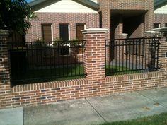 Exteriors: Brick Fence for Exterior Housing Design. Bold Fence ...