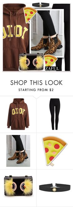 """""""animal print"""" by paculi ❤ liked on Polyvore featuring OiOi and FOSSIL"""