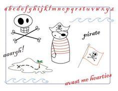 Pirate embroidery pattern