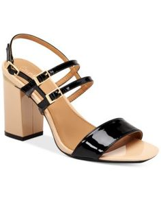 Calvin Klein Women's Caisiey Slingback Sandals $87.99 Sexy and stable, the strappy Caisley sandals by Calvin Klein feature a sturdy block heel.