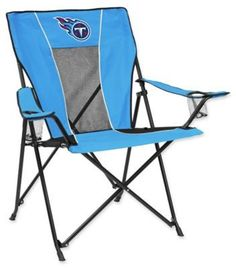 $49.99 - NFL Tennessee Titans Folding GameTime Chair - Enjoy the game while sitting in the NFL Folding GameTime Chair. Perfect for any tailgate, backyard party, or man cave, this spirited chair is adorned in the colors and logo of your favorite NFL team, features dual cup holders, and folds for storage.