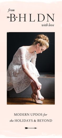 delicate and romantic bridal undo by Irrelephant for BHLDN Weddings + @Anthropologie Like this.