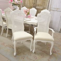 Cane Back Dining Room Chairs High Swivel Rocker Patio 33 Best Ideas Images Chair Stunning With Linen Seat Set Of 10 1 595 00 Thebellacottage Shabbychic