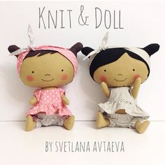 Knit & Doll @knit_and_doll Две девчонки ищут...Instagram photo | Websta (Webstagram) Doll Crafts, Diy Doll, Tilda Toy, Homemade Toys, Bear Doll, Sewing Dolls, Doll Tutorial, Waldorf Dolls, Knitted Dolls