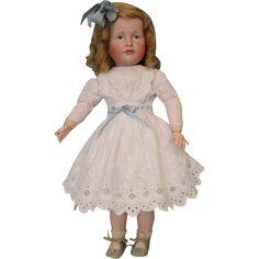 "19 Inch German Bisque K * R ""Gretchen"" 114 Character Doll Kammer & from turnofthecenturyantiques on Ruby Lane"