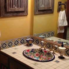 Mexican bathroom decor