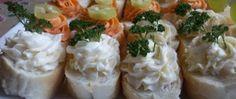 Recept Slané kanapky - Rychlé pohoštění pro návštěvu Tortilla Wraps, Snack Recipes, Snacks, Thing 1, Tzatziki, Baked Potato, Sushi, Potatoes, Vegetarian