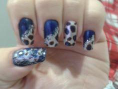 Onça azul com glitter