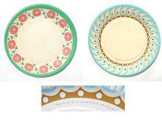 Vintage paper plates