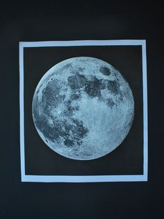 Moon Print signed by AGC916 on Etsy
