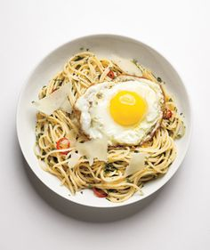 Spaghetti With Herbs, Chilies, and Eggs | Beat the weeknight scramble with one of these speedy, protein-packed meals.
