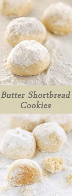 Soft Butter Shortbread Cookies that melt in your mouth. Very easy to make and super tasty!english version halfway down the page! Butter Shortbread Cookies, No Bake Cookies, Cookies Et Biscuits, Yummy Cookies, Shortbread Biscuits, Italian Butter Cookies, Owl Cookies, Cookies Soft, Baking Cookies