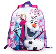 329a00d254 2019 Hot Sale 3D Frozen Backpacks Girls Kids Cartoon Pattern Satchel School  Bag Children S Bags Christmas Gift From Jessiebee