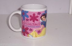 Disney Snow White My Grandma is a Princess Too Pink Flowers Coffee Mug Cup