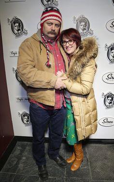 Nick Offerman and Megan Mullally <3