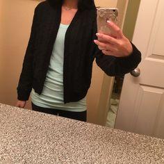 Rory Beca x Forever 21 Baseball Jacket Black crochet (see pic). Baseball style casual jacket. Size SMALL. Rory Beca Jackets & Coats