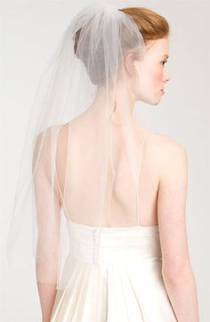 Nina 'Bernadet' Single Tier Veil @Nordstrom #WeddingSuite #Nordstrom