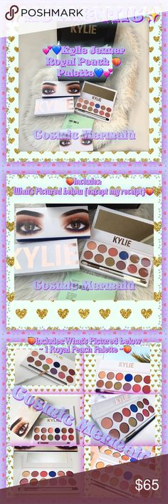 🍑Kylie Cosmetics Royal Peach Palette AUTHENTIC!🍑 ✨💜Brand New! Kylie Cosmetics ~ The Royal Peach Palette!AUTHENTIC! ONLY 1 available!💜✨  The #KylieCosmetics Royal Kyshadow pressed powder eye shadow palette is your secret weapon to create the perfect Kylie eye. The royal peach palette comes with 12 shadows😍View Photos  👁Shades:  Sorbet Seashell Peachy Royal Queen Bee Duke Duchess Sandy Mojito North Star Crush Cinnamon  💙Kyshadow pressed powder eye shadows are talc & paraben free,have…