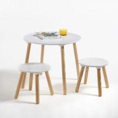 Table et 2 tabourets enfant Jimi La Redoute Interieurs - Bureau enfant