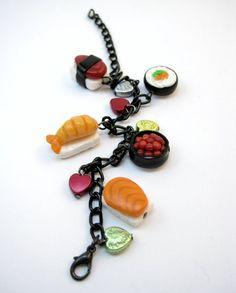 Sushi and Hearts Bracelet