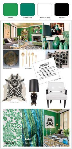 Inspiration to Colorization: Emerald Green Event Design Inspiration. By Alchemy Fine Events www.alchemyfineevents.com