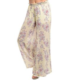 Another great find on #zulily! Beige & Purple Floral Palazzo Pants http://www.zulily.com/?SSAID=930758&tid=acceleration_930758 #zulilyfinds