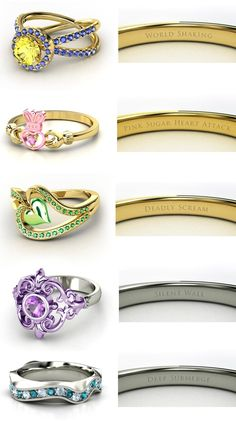 Sailor Moon Rings - Power themes