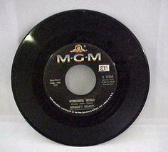 MGM Herman's Hermits Traveling Light & Wonderful World  45 RPM Record K13354 #Pop