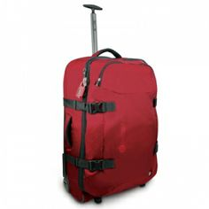 lightweight, semi-collapsible, eXomesh, secure from forced zipper entry, wheeled duffel