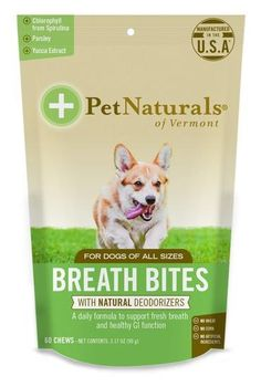 Pet Naturals of Vermont - Breath Bites, Fresh Breath Dental Health Bites, 60 Bite-Sized Chews Nursing Supplies, Dog Supplies, Alkaline Diet Plan, Pet Dogs, Pets, Dental Health, Dental Care, Dog Barking, Dog Crate